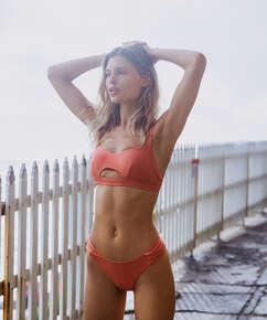 Bonita high-cut bikini bottoms, Orange