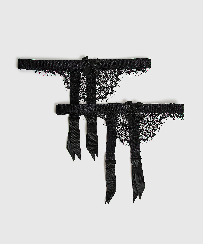Suspender cuffs, Black, main