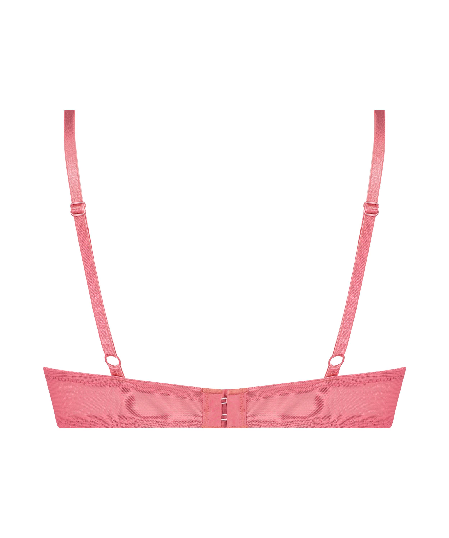 Leyla padded push-up underwired bra, Pink, main