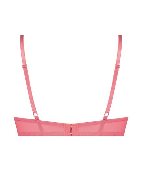 Leyla padded push-up underwired bra, Pink