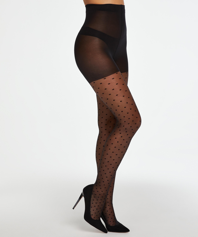 Dot 15 Denier tights, Black, main