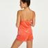 Velvet lace shorts, Orange