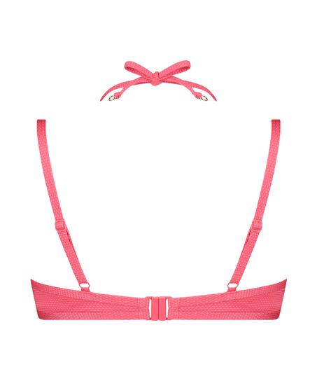 Ruffle Dreams padded underwired bikini top, Pink