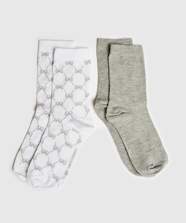 2 Pairs of Antonia Socks, White, main