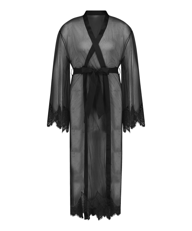 Long Cravache Kimono, Black, main
