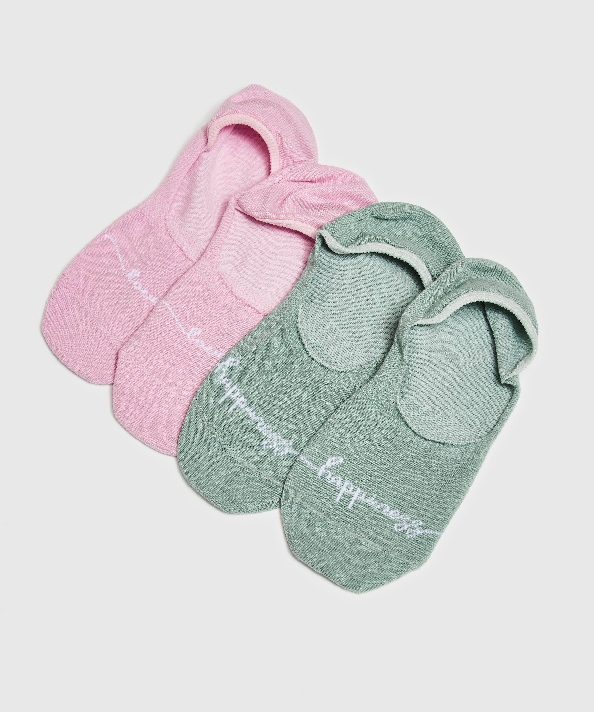 2 pairs Lasercut Footsies, Green, main