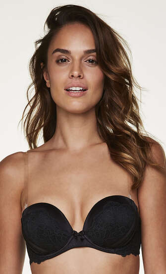 Transparent Bra Straps A to D cups, White