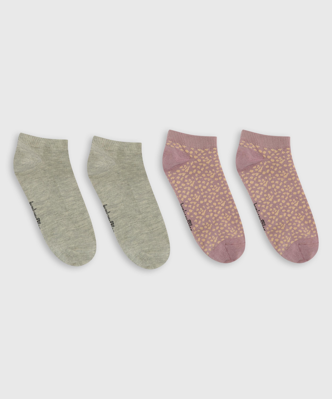 2 Pairs Of Socks, Orange, main