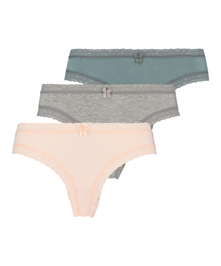 3 Pack Utopia Knickers, Green