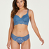 Shiloh non-padded non-wired nursing bra, Blue