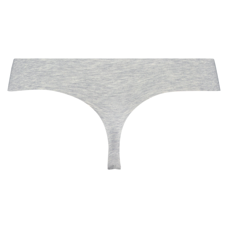 Invisible cotton thong, Grey, main