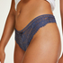 Gianni extra low rise thong, Blue