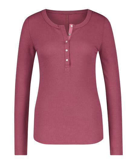 Long-Sleeved Pyjama Top , Red