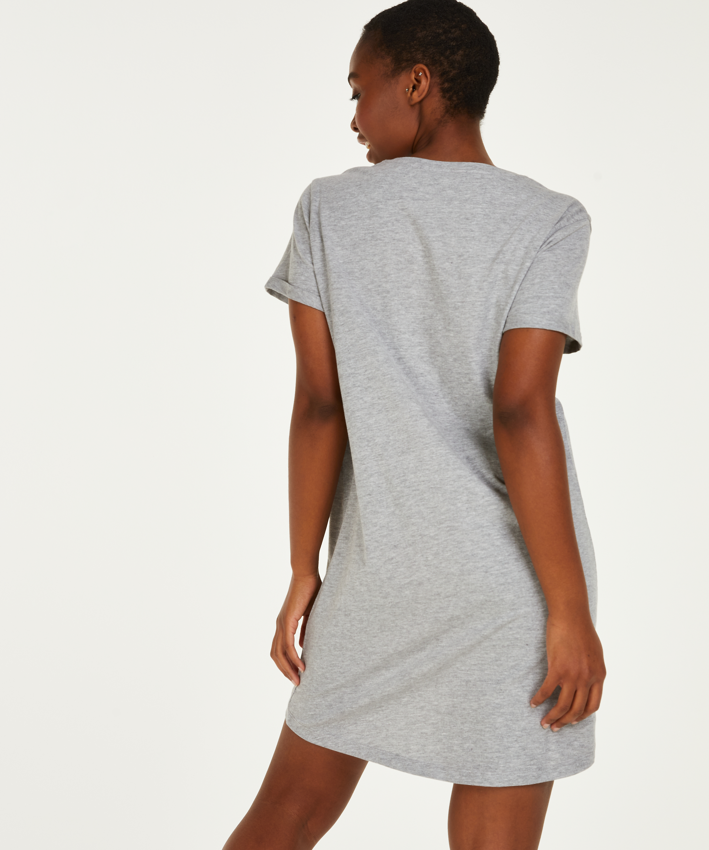 Round Neck Nightshirt, Grey, main