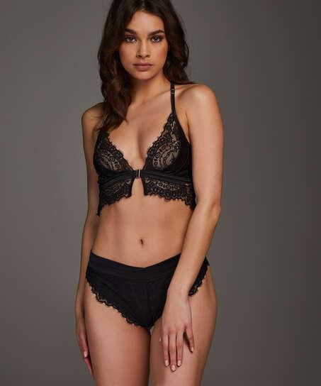 Celeste high-leg Brazilian, Black