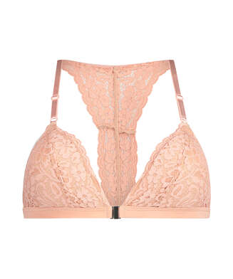 Rose Padded Triangle Bralette, Pink