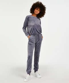 Velvet Shimmer top, Grey