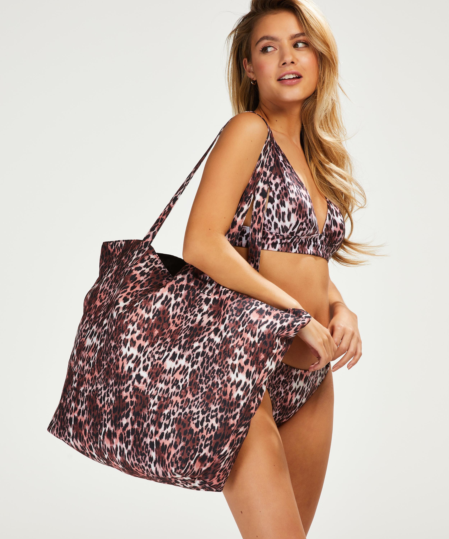 Leopard beach bag, Brown, main