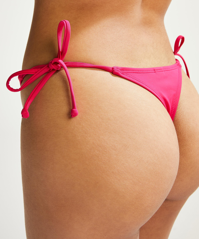 Deluxe Thong Bikini Bottoms, Pink, main