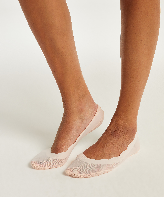 2 pairs Lasercut Footsies, Pink, main
