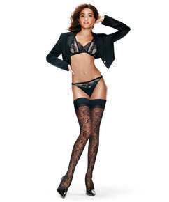 Fishnet 15 Denier Hold-ups, Black