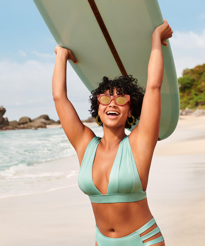 SoCal triangle bikini top, Green, main