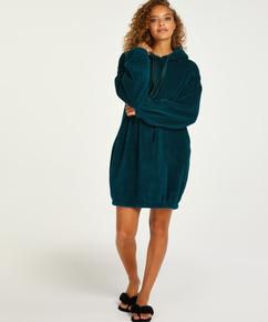 Snuggle Fleece Dress, Blue