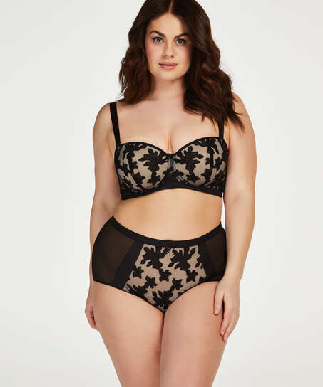 Ramona padded strapless underwired bra I AM Danielle, Black