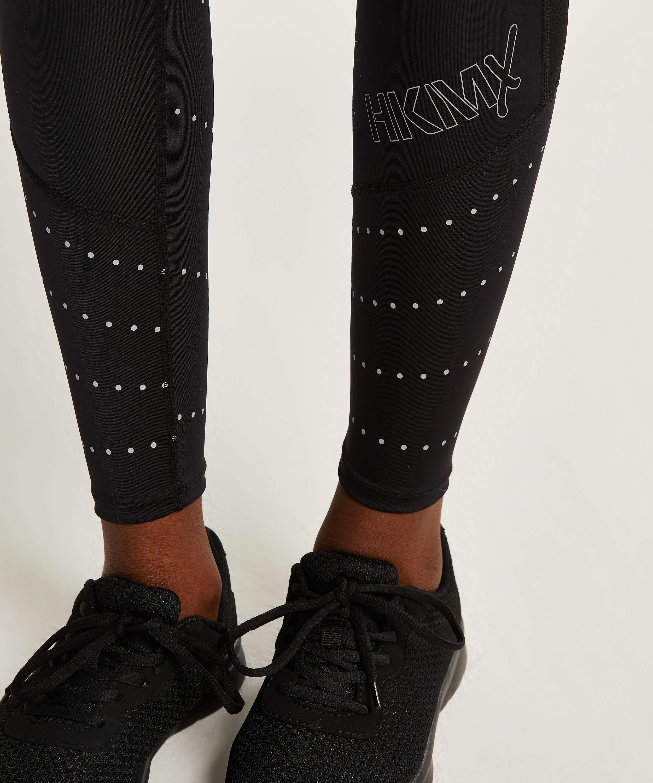 HKMX Run Baby Run Regular Waist Leggings, Black, main