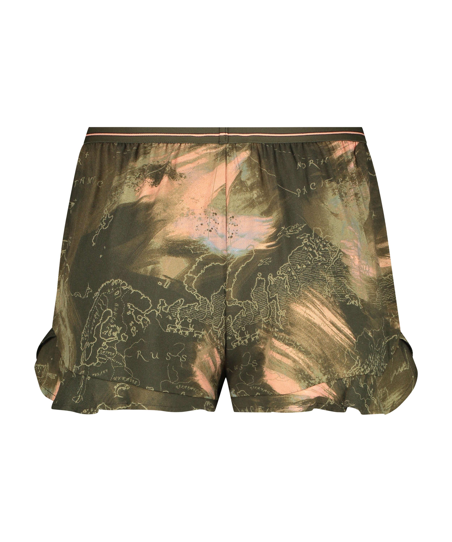 Pyjama shorts, Green, main