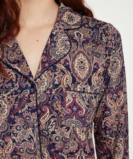 Paisley Pyjama Top, Blue