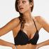 Scallop push-up underwired bikini top Cup A - E, Black