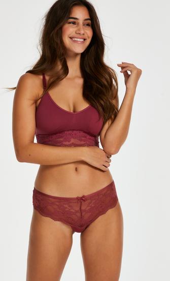 Abigail Brazilian Shorts, Red