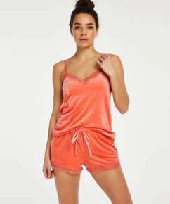 Velvet lace cami, Orange