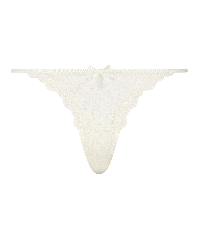 Mini Tanga thong, White, main