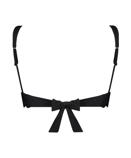 Scallop triangle bikini top, Black