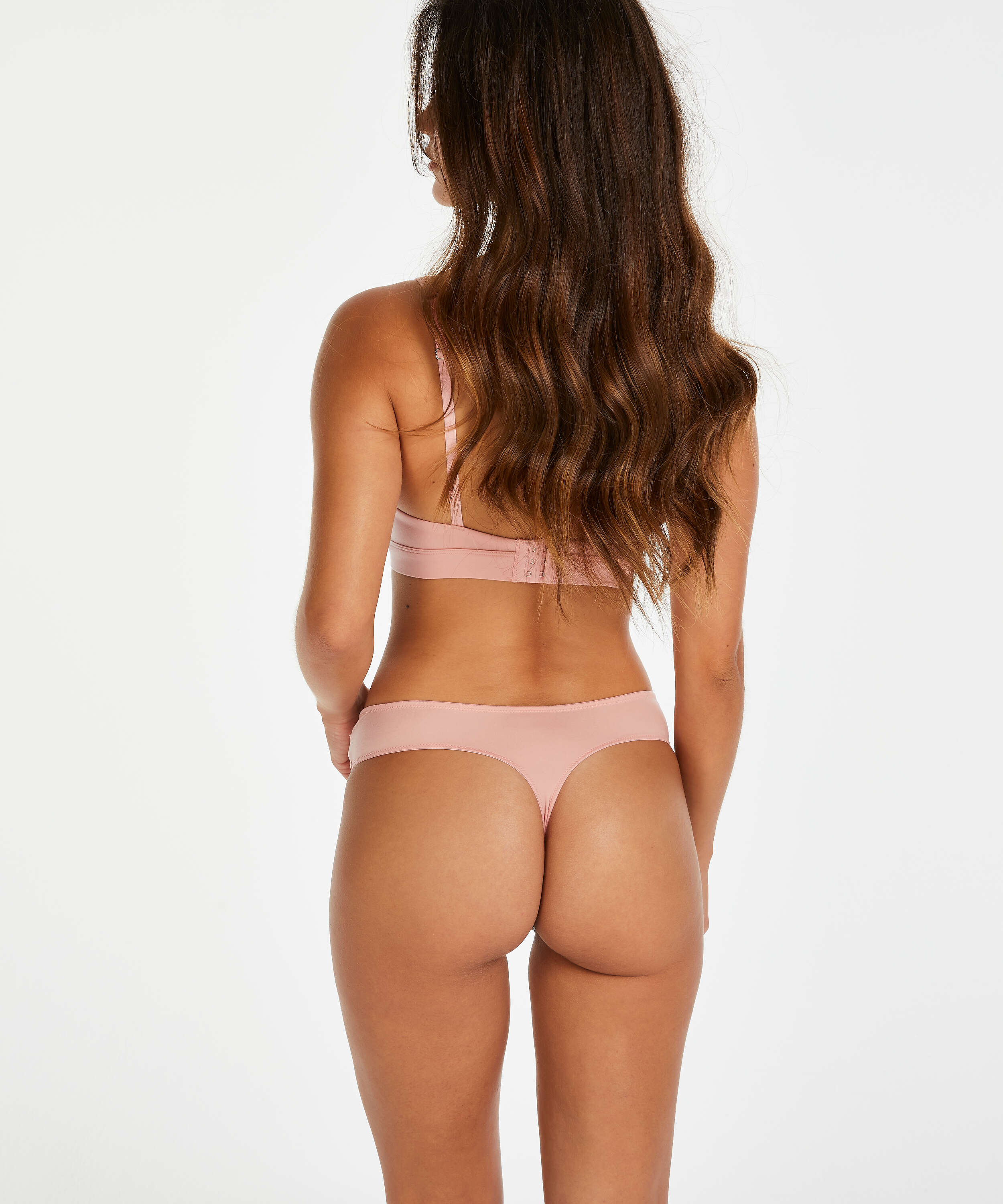 Soft non-padded non-underwired bra, Pink, main