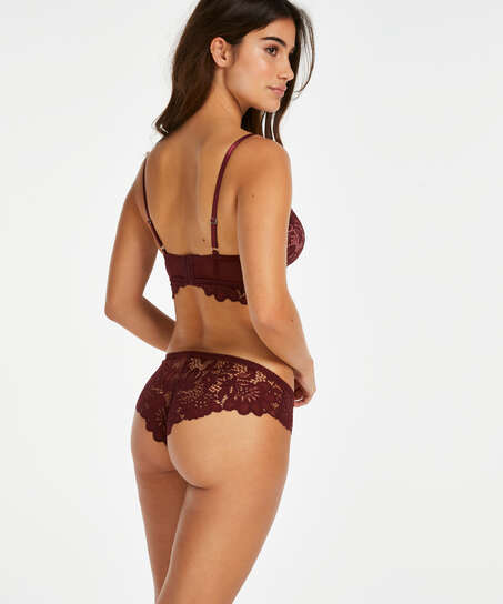 Shiloh Padded Longline Non-Underwired Bra , Red