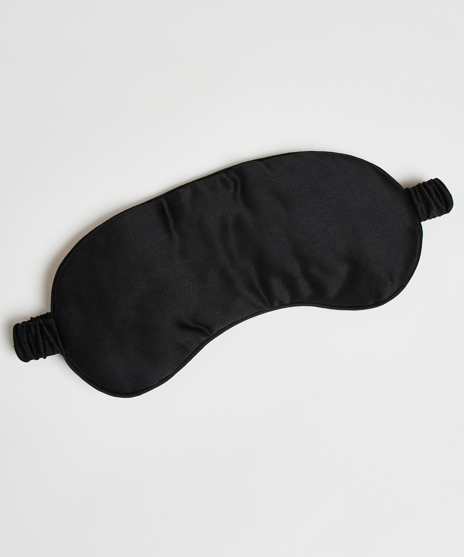 Sleep mask silk Noir, Black, main