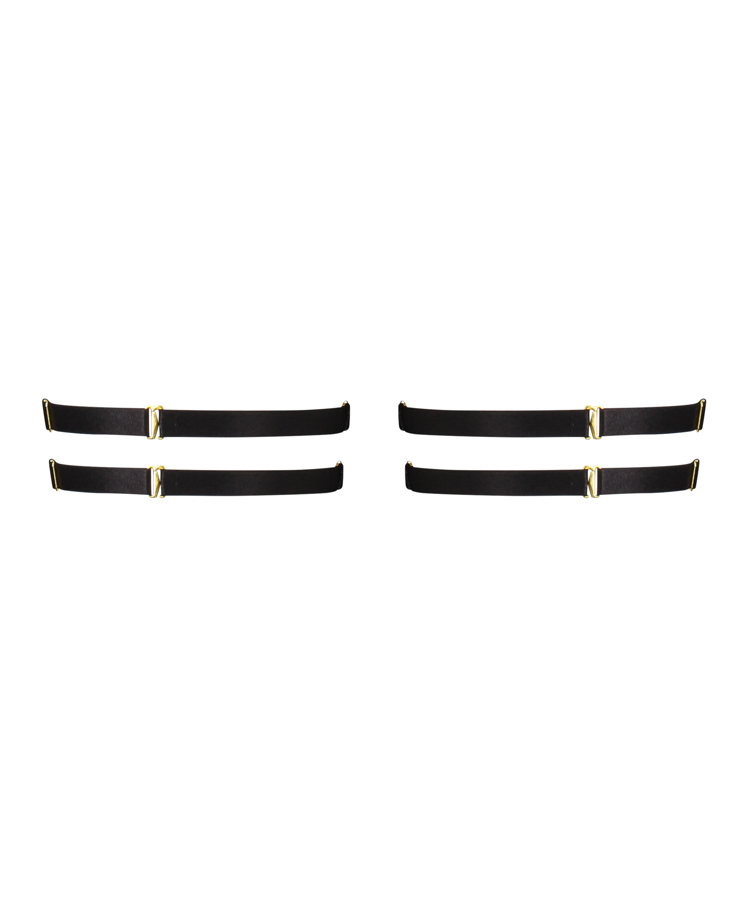 Heart Private Hold Up Suspenders, Black, main