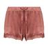Velvet lace shorts, Pink
