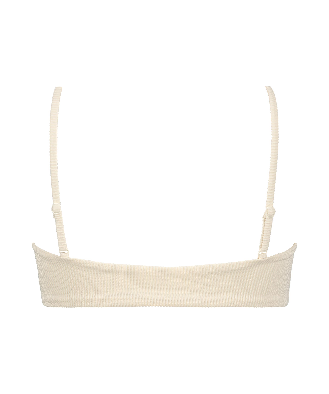 Bikini crop top Texture HKM x NA-KD, White, main