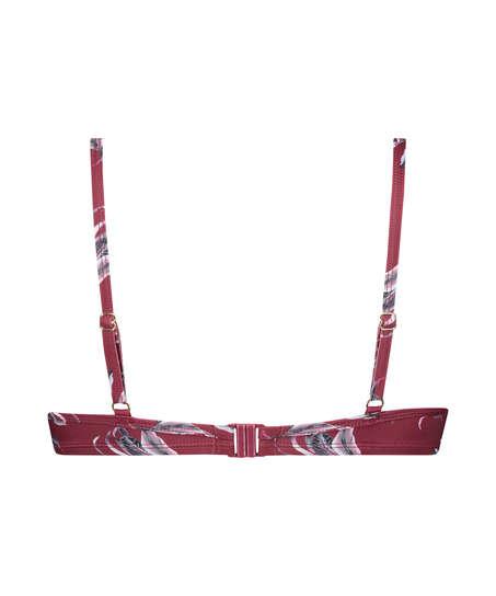 Tropic Glam non-padded underwired bikini top, Red