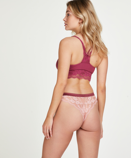 Iva high leg Brazilian, Pink