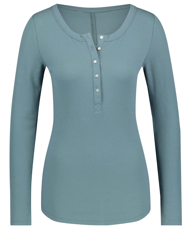 Long-Sleeved Pyjama Top , Blue, main