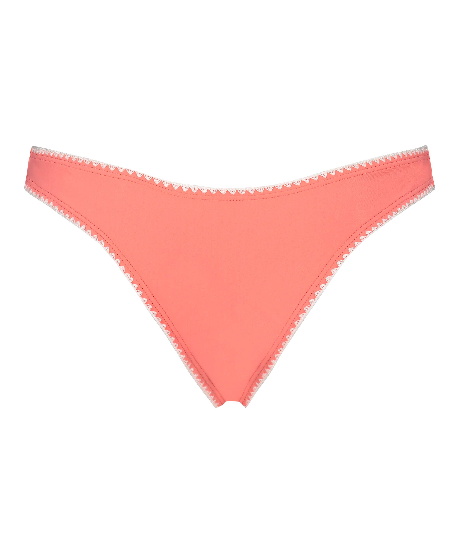 Maya high-cut brazilian bikini bottoms, Pink, main