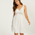 Modal Lace Slip Dress, White