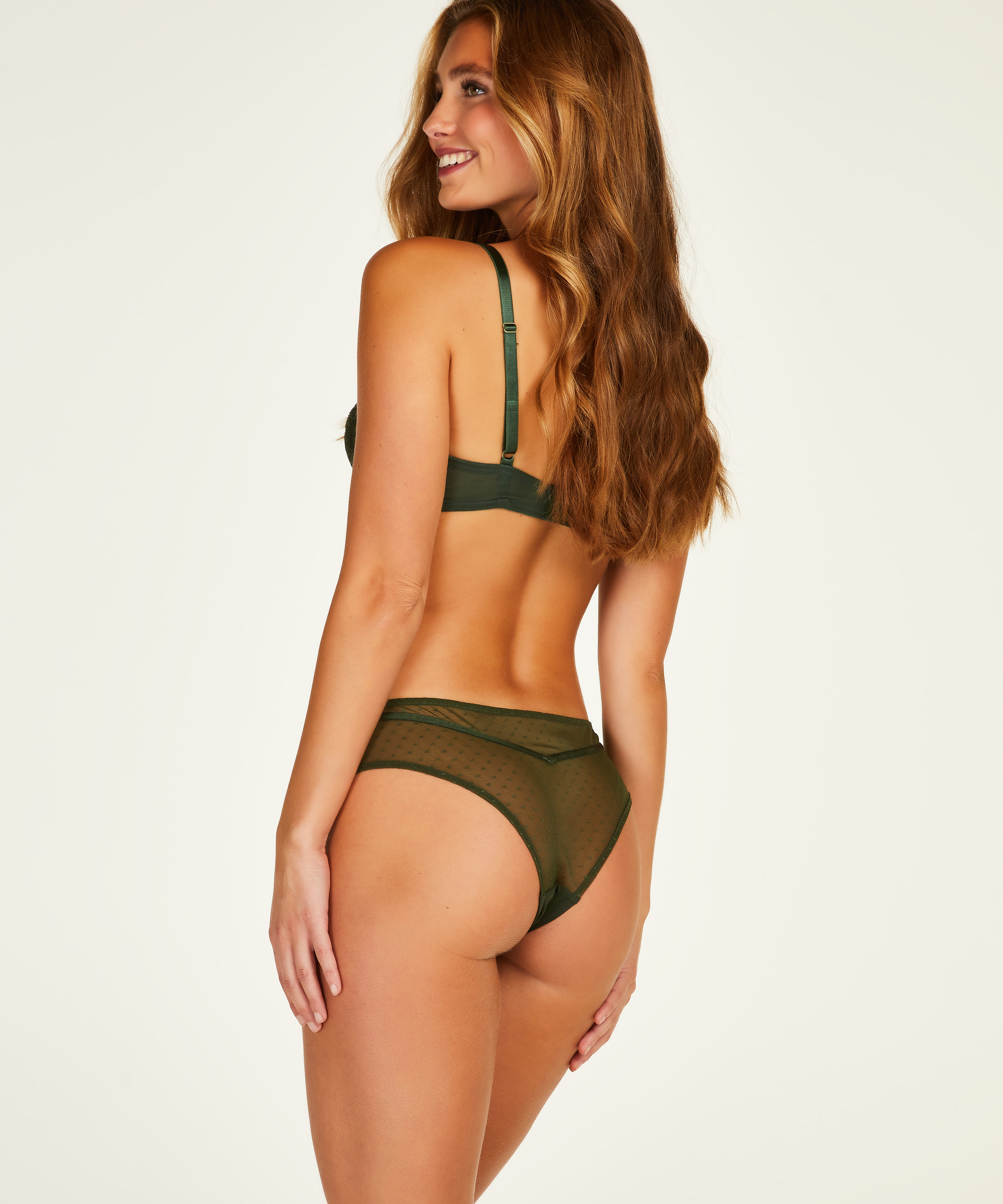 Kate Padded Non-Wired Bra, Green, main