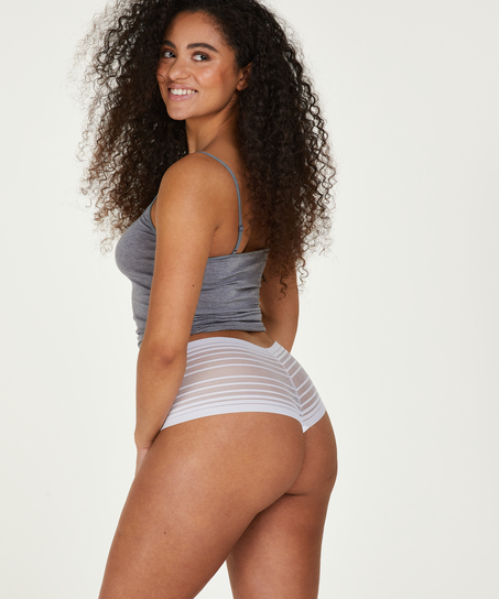 Invisible high thong, White