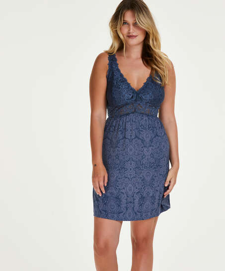 Nora Slip Dress, Blue